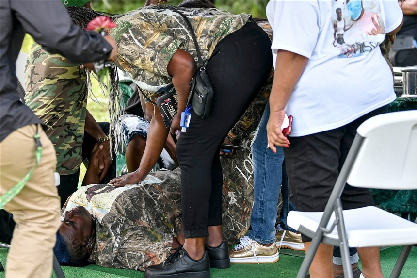 Mother of Black teen killed by Florida deputy is shot during son's burial